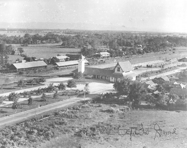 Aerial picture of the railway station