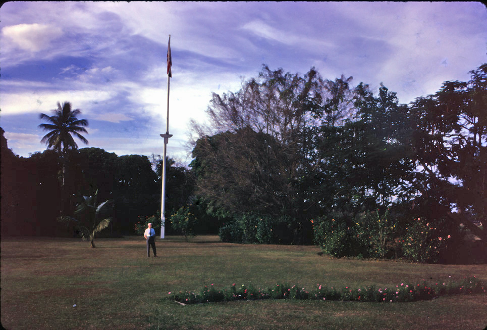 Lawn of the British consulate in Chiang Mai 1966