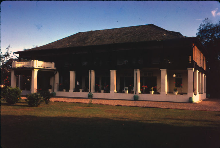 Front of the British Consulate in Chiang Mai 1966