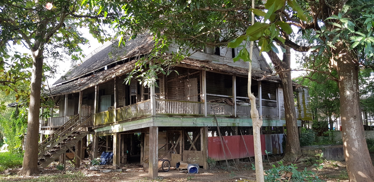 Old wooden house in bad state