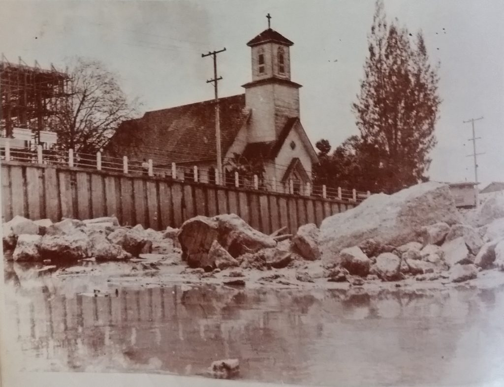 Old church on the river